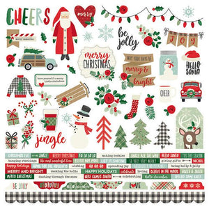 Merry and Bright Collection - Christmas - 12 x 12 Cardstock Stickers