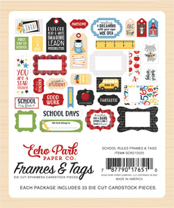 SCHOOL RULES FRAMES & TAGS by ECHO PARK