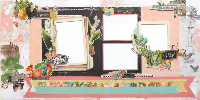 Simple Vintage Farmhouse Garden Page Kit