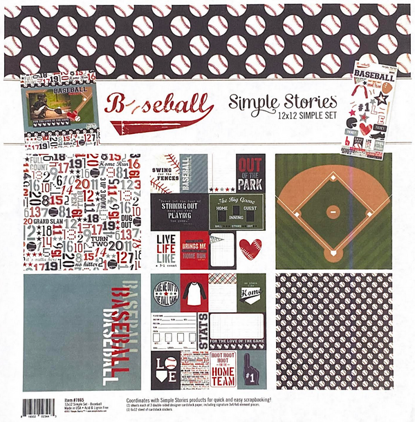BASEBALL COLLECTION KIT by SIMPLE STORIES