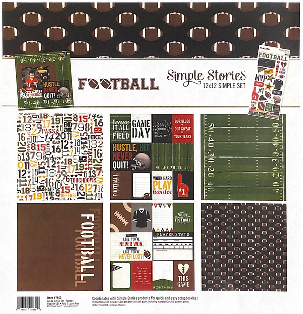 FOOTBALL COLLECTION KIT by SIMPLE STORIES