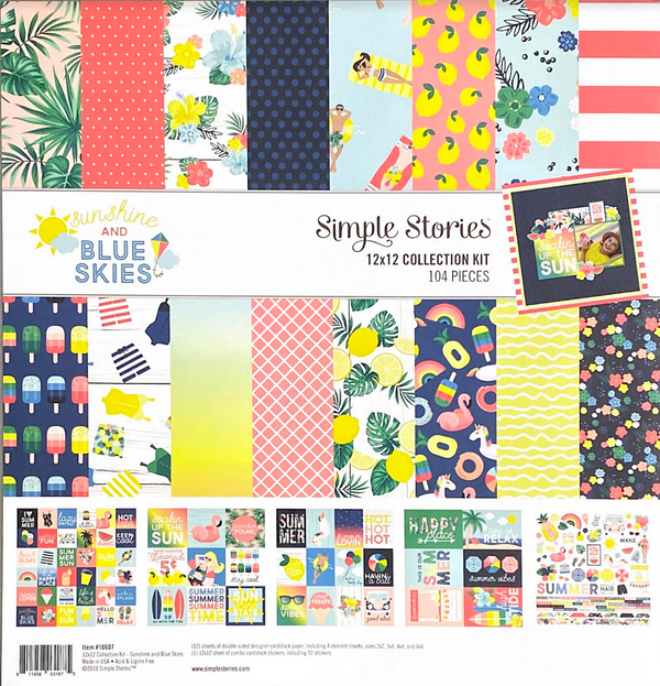SUNSHINE AND BLUE SKIES COLLECTION KIT by SIMPLE STORIES