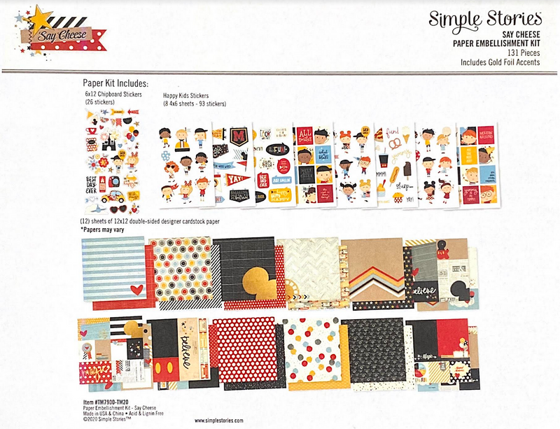 SAY CHEESE PAPER KIT by SIMPLE STORIES