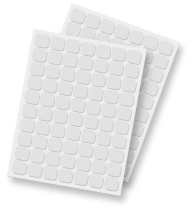 3D Foam Squares (White) by Scrapbook Adhesives
