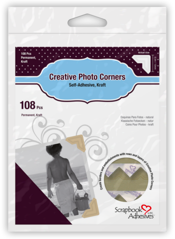 Creative Photo Corners (Kraft) by Scrapbook Adhesives