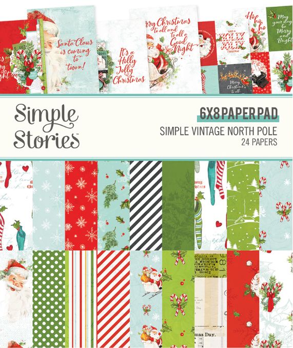 Simple Vintage North Pole 6x8 Paper Pad by Simple Stories