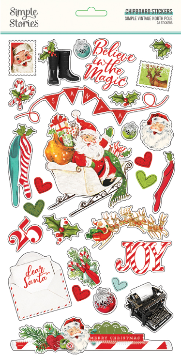 Simple Vintage North Pole 6x12 Chipboard Sticker by Simple Stories