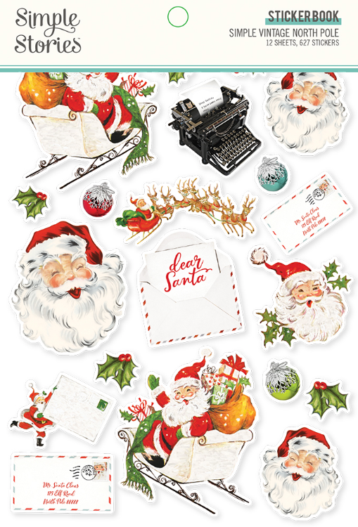 Simple Vintage North Pole Sticker Book by Simple Stories