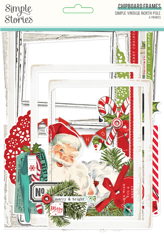 Simple Vintage North Pole Chipboard Frames by Simple Stories