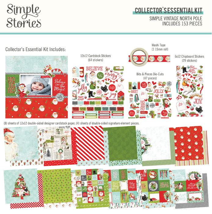 Simple Vintage North Pole Collector's Essential Kit by Simple Stories