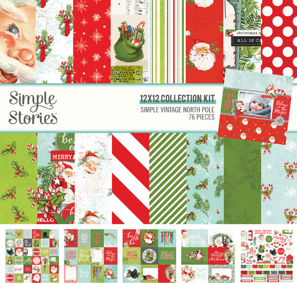 Simple Vintage North Pole Collection Kit by Simple Stories