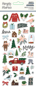 Winter Cottage Puffy Stickers by Simple Stories **SHIPPING AUGUST**