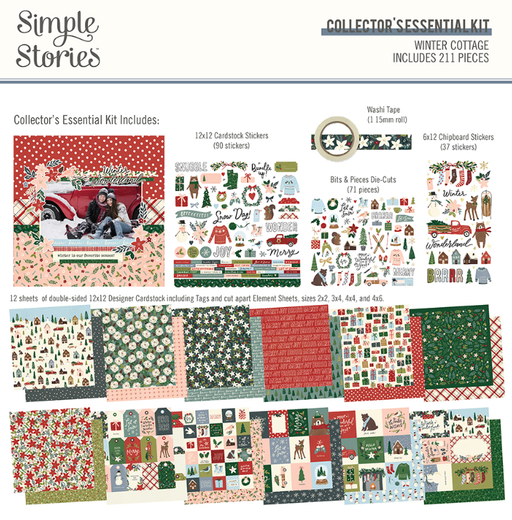 Winter Cottage Collector's Essential Kit by Simple Stories