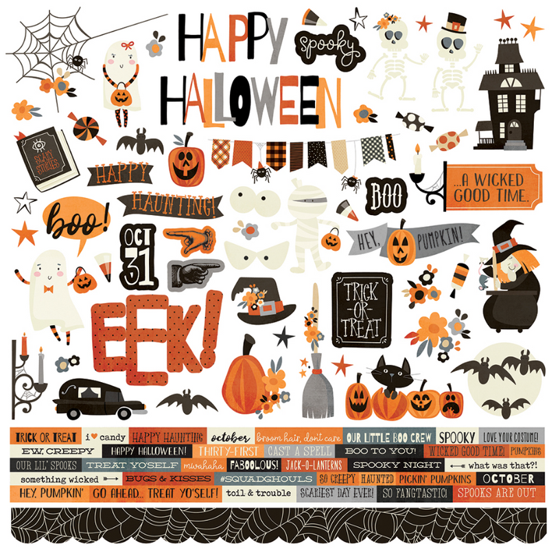 Boo Crew Cardstock Sticker by Simple Stories