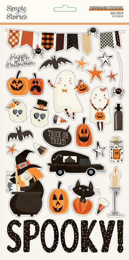 Boo Crew 6x12 Chipboard by Simple Stories