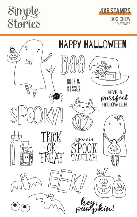 Boo Crew Stamps by Simple Stories