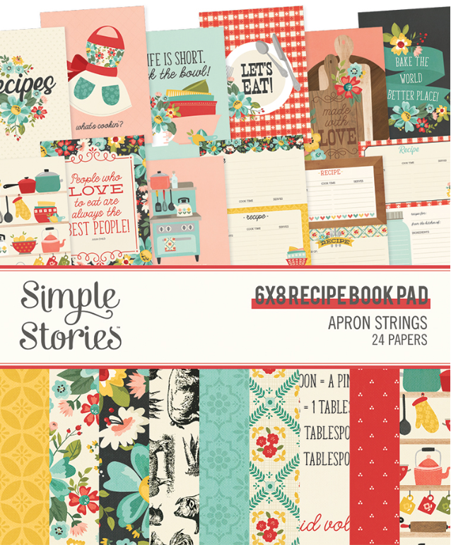 Apron Strings 6x8 Recipe Book Paper Pad by Simple Stories **SHIPPING AUGUST**