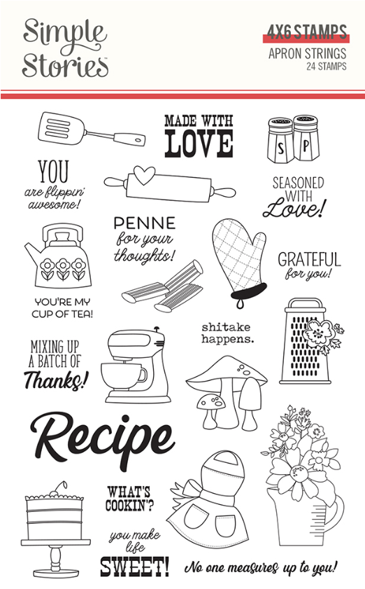 Apron Strings Stamps by Simple Stories