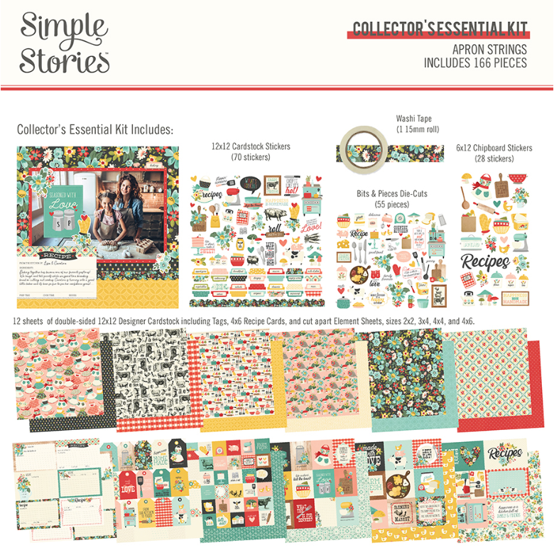 Apron Strings Collector's Essential Kit by Simple Stories **SHIPPING AUGUST**