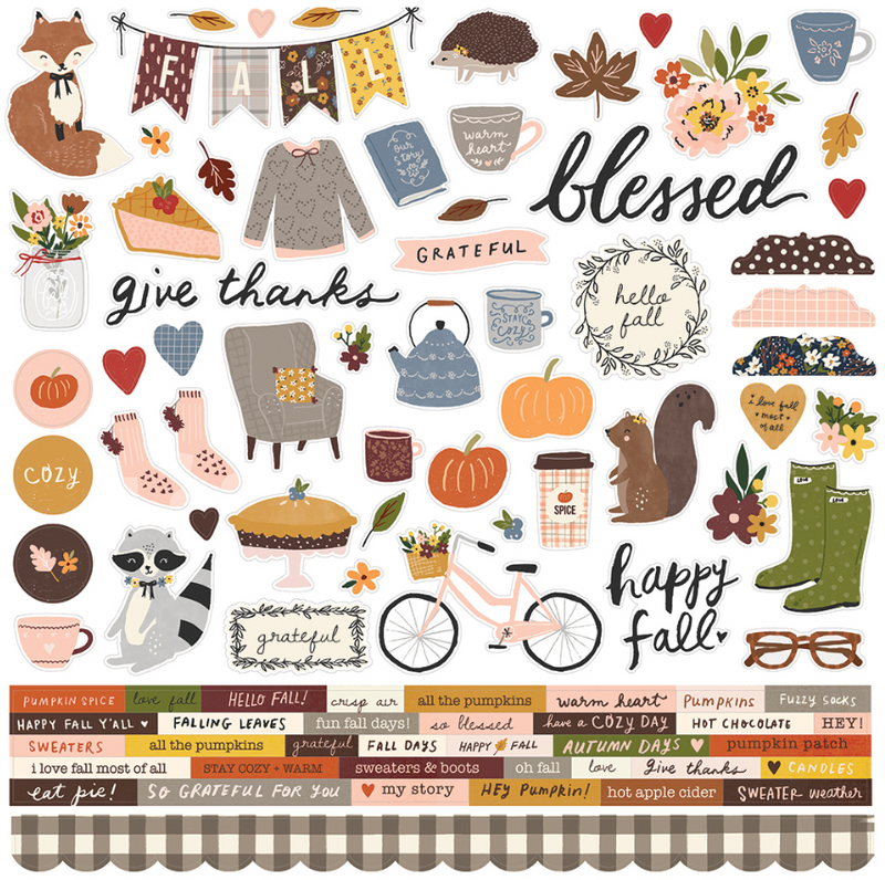 Cozy Days Cardstock Sticker by Simple Stories