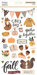 Cozy Days 6x12 Chipboard by Simple Stories **SHIPPING AUGUST**