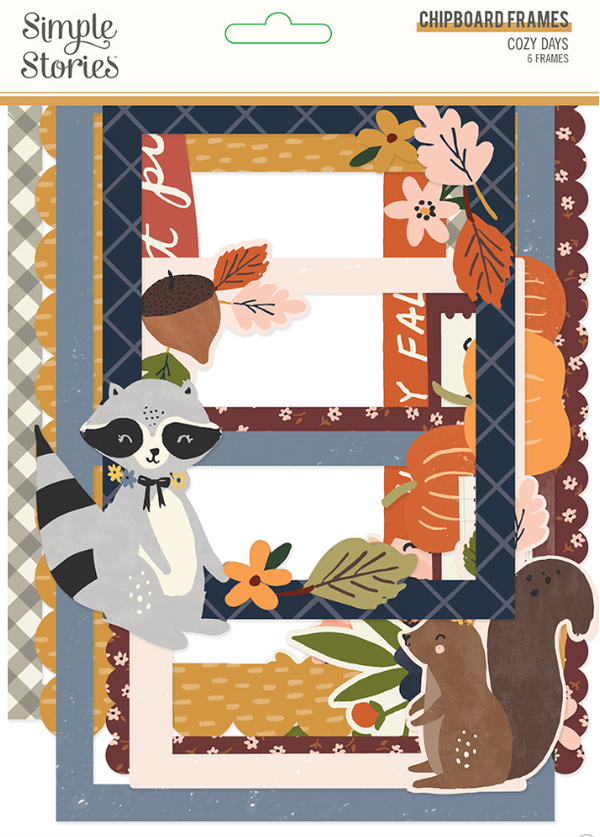 Cozy Days Chipboard Frames by Simple Stories