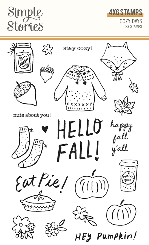 Cozy Days Stamps by Simple Stories