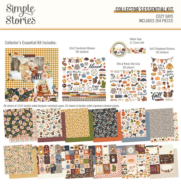 Cozy Days Collector's Essential Kit by Simple Stories