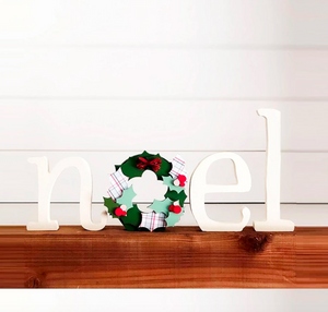 Noel with Wreath by Foundation Decor