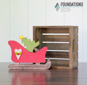 Christmas Sleigh by Foundation Decor