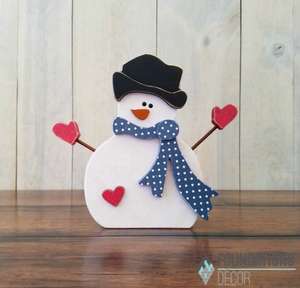 January Snowman with Arms by Foundation Decor