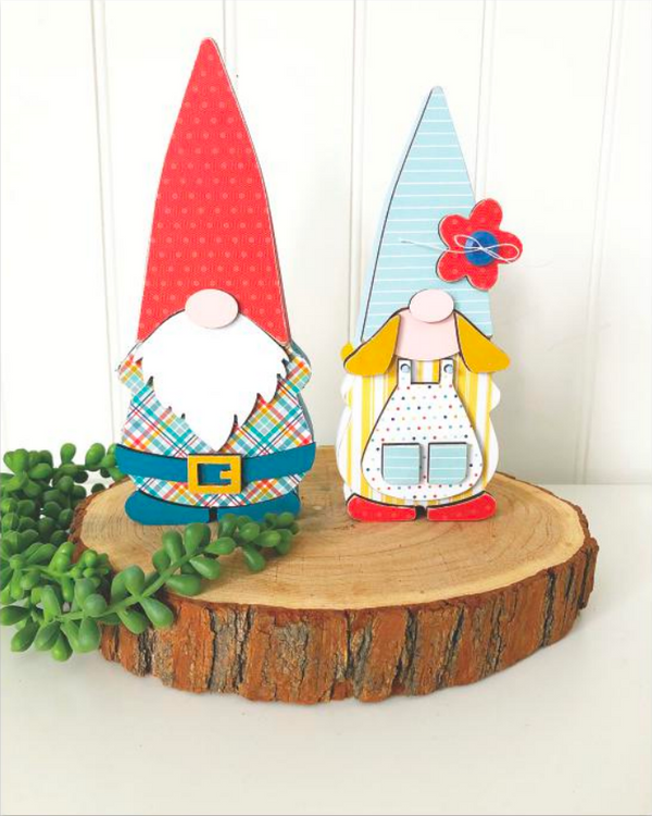 Gnome Couple Olive & Odi by Foundations Decor