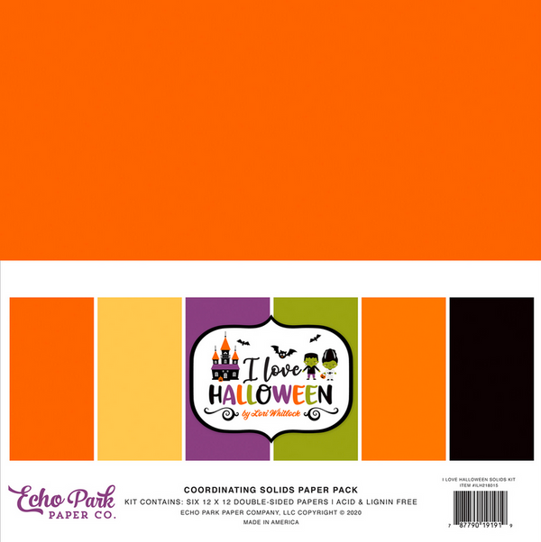 I Love Halloween Solids Kit