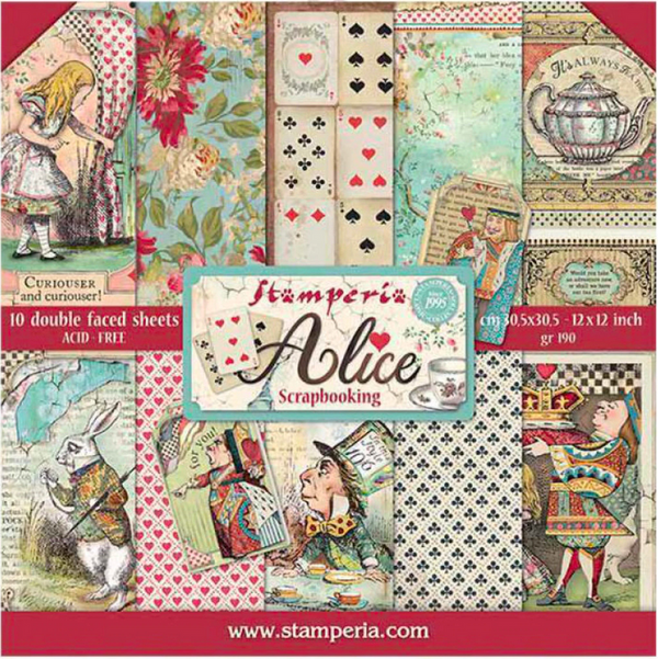 Alice 12x12 Paper Collection by Stamperia