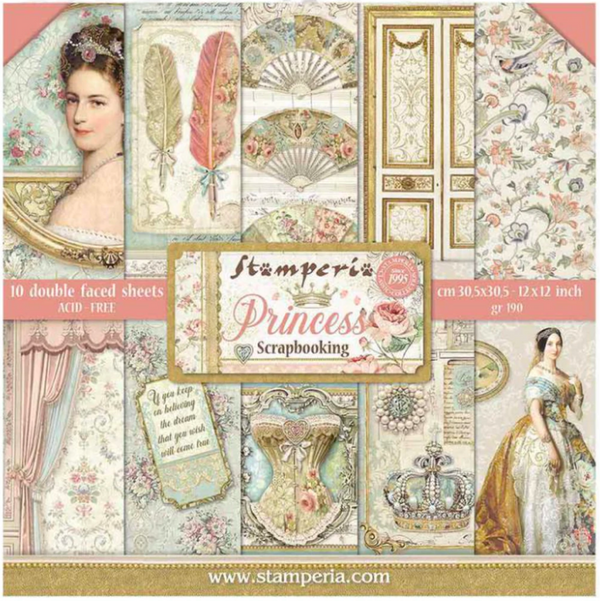 Princess 12x12 Paper Collection by Stamperia
