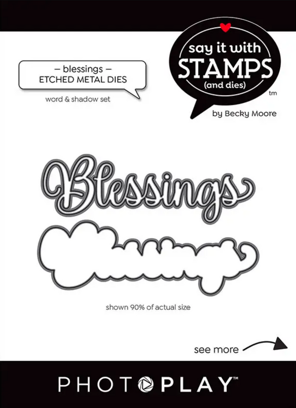 Say It With Stamps Blessings Dies