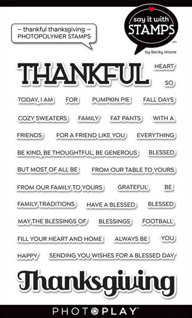 Say It With Stamps Thankful Thanksgiving Stamps