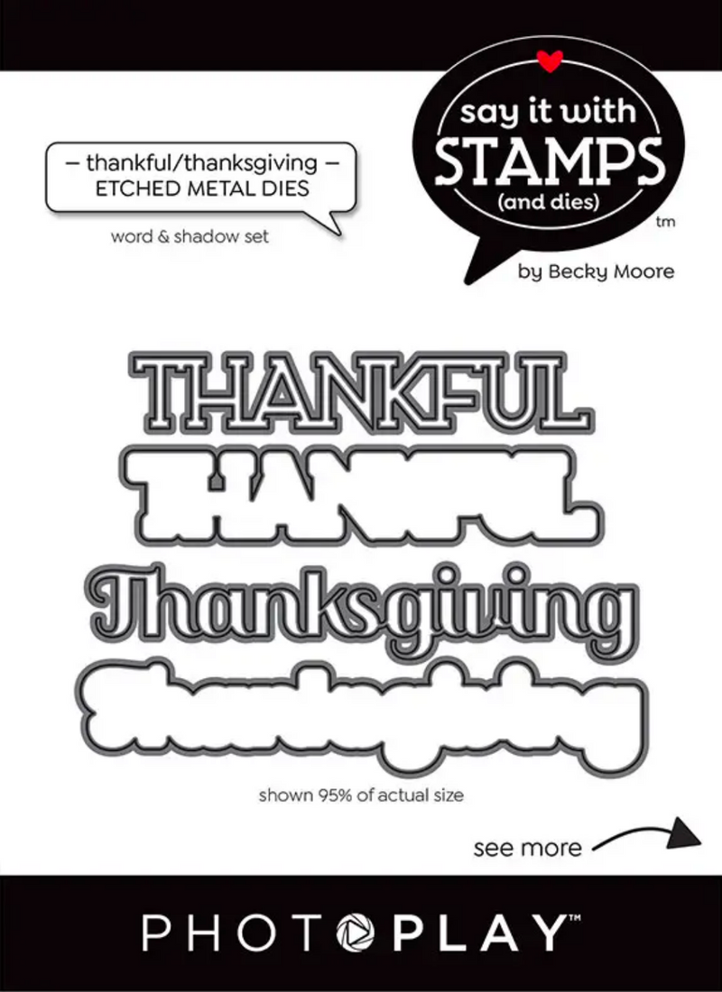 Say It With Stamps Thankful Thanksgiving Dies