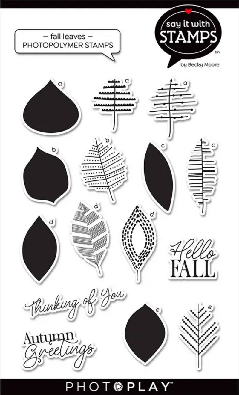Say It With Stamps Fall Leaves Stamps
