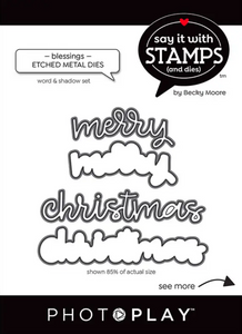 Say It With Stamps Merry Christmas Dies