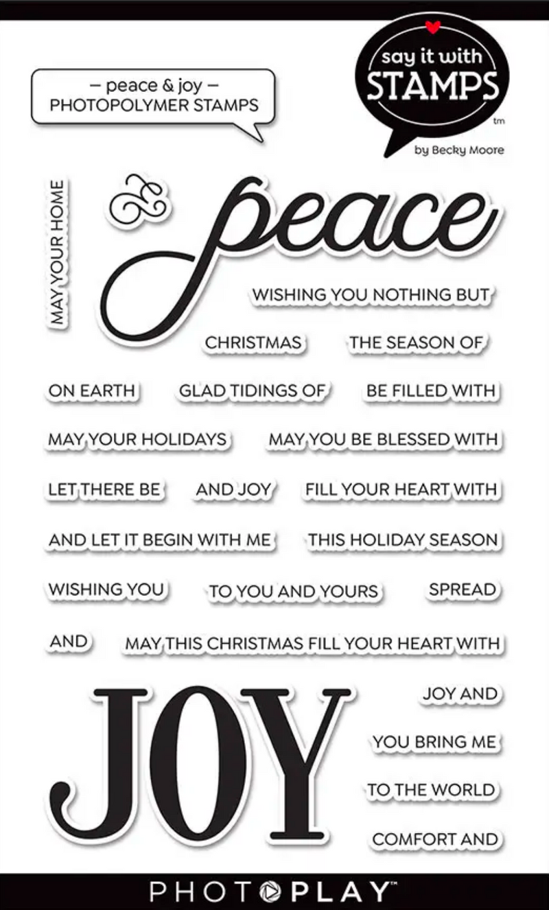 Say It With Stamps Peace & Joy Stamps