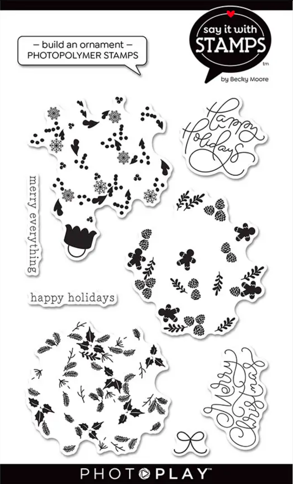 Say It With Stamps Build An Ornament Stamps