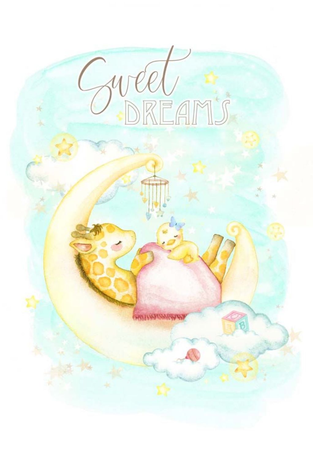 Dream Land Collection Postcard - Sweet Dreams