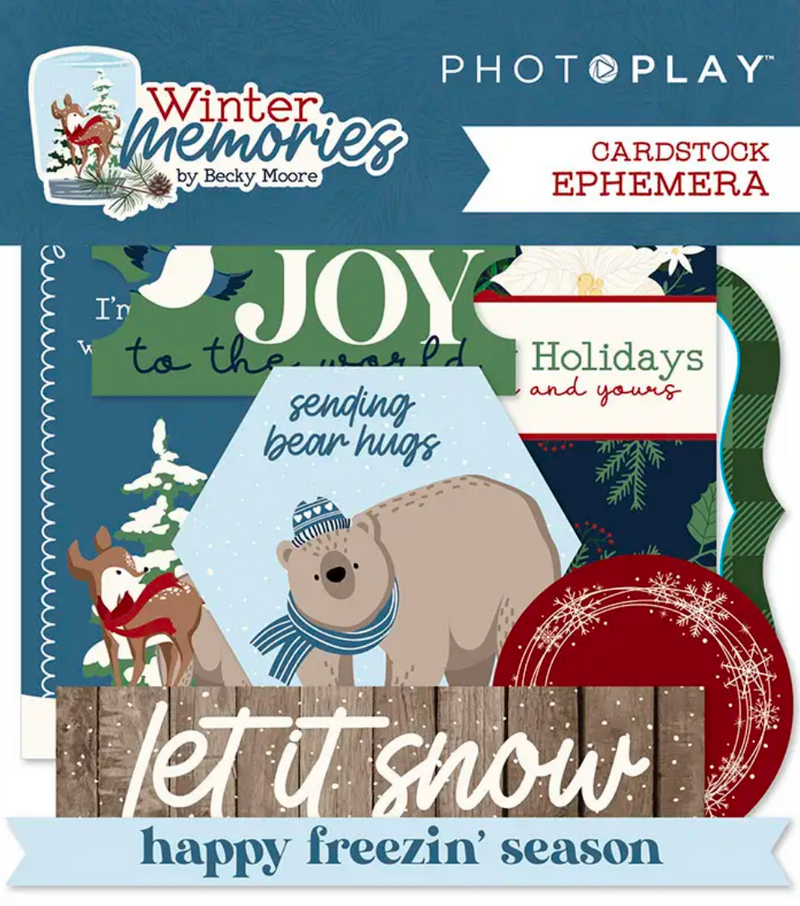 Winter Memories Ephemera by PhotoPlay Paper