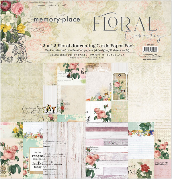 Floral Tapestry 4x6 Journaling Cards 12x12 Collection Pack
