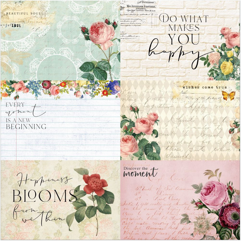 Floral Tapestry 4x6 Journaling Cards 1