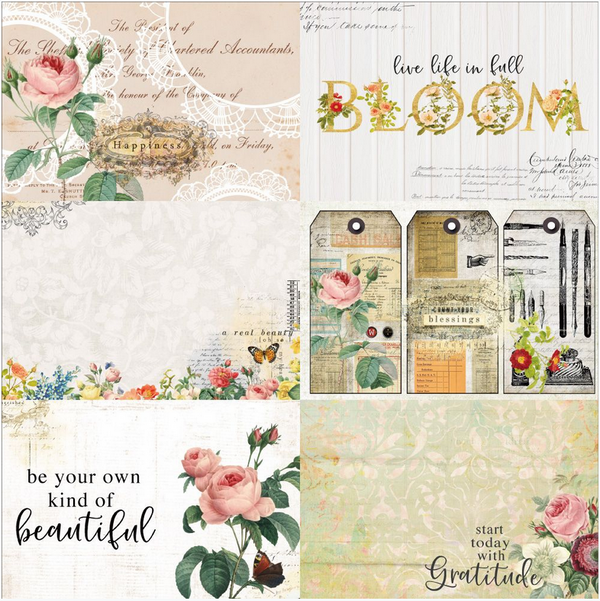 Floral Tapestry 4x6 Journaling Cards 2