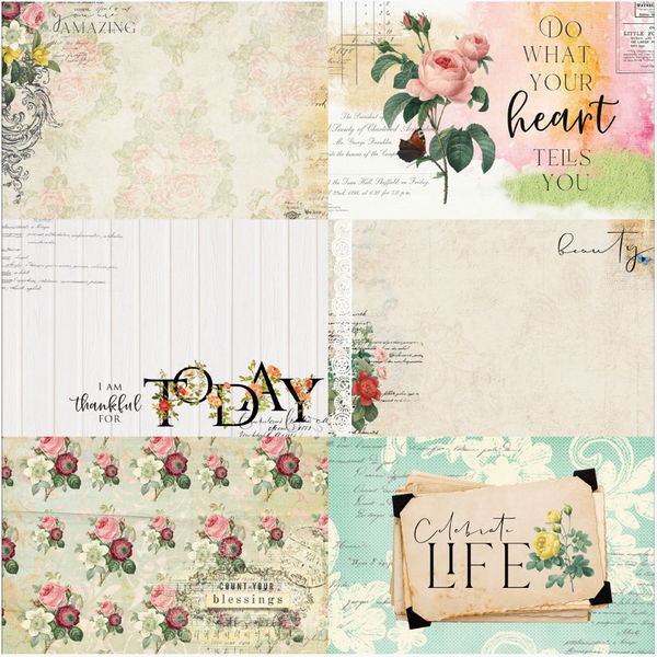 Floral Tapestry 4x6 Journaling Cards 3
