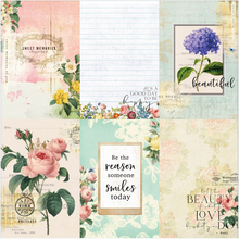 Floral Tapestry 4x6 Journaling Cards 4 **Shipping October**