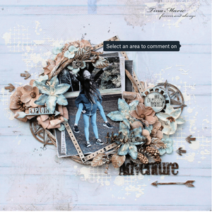 Holiday Adventure Page kit By TIna Ollett and 49 and Market